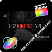 FCP Kinetic Typo for Final Cut Pro icon