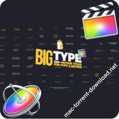Big Type 300 titles for FCPX 27096182 icon
