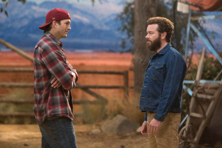 Ashton Kutcher and Danny Masterson in Netflix's The Ranch