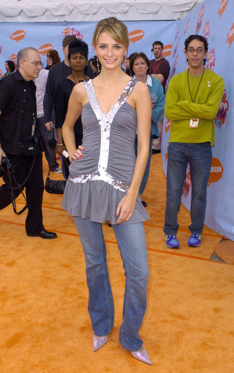 "Pointy-toed pumps and boot-cut jeans—this was sadly the ""casual-chic"" uniform of every it-girl at this time."