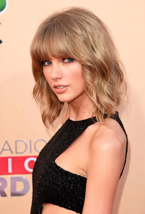 We love a good Taylor Swift bob, but this tousled style with feathery bangs is *everything*.