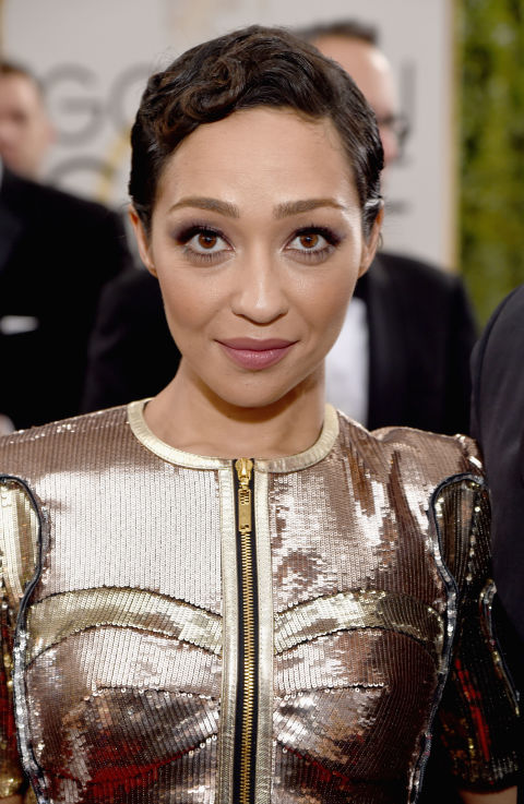 Theflapper pin-curls of the '20sare still just as glamorous today, as shown by Loving star Ruth Negga atthe Golden Globes.