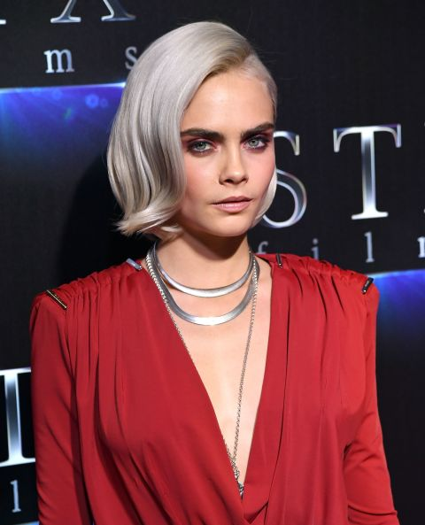 Beauty PSA: Pastels and platinum huesare much easier to pull off for short-haired girls than long-haired ones—you avoid that whole mermaid thing.