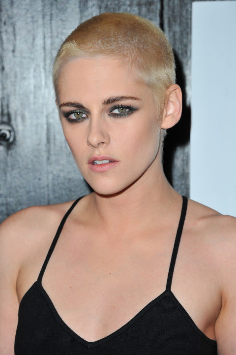 In which Kristen Stewart convinces us that shaved, bleachedhair is definitely one badass way to keep your head cool in the heat (now, if only we had her courage to go through with it).