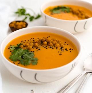 Crema de zanahoria y batata