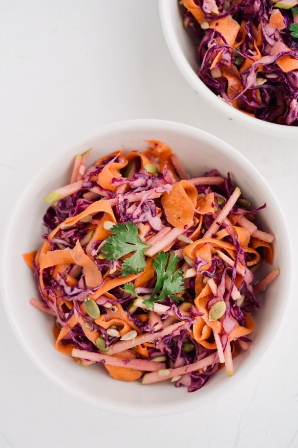 coleslaw o ensalada de repollo