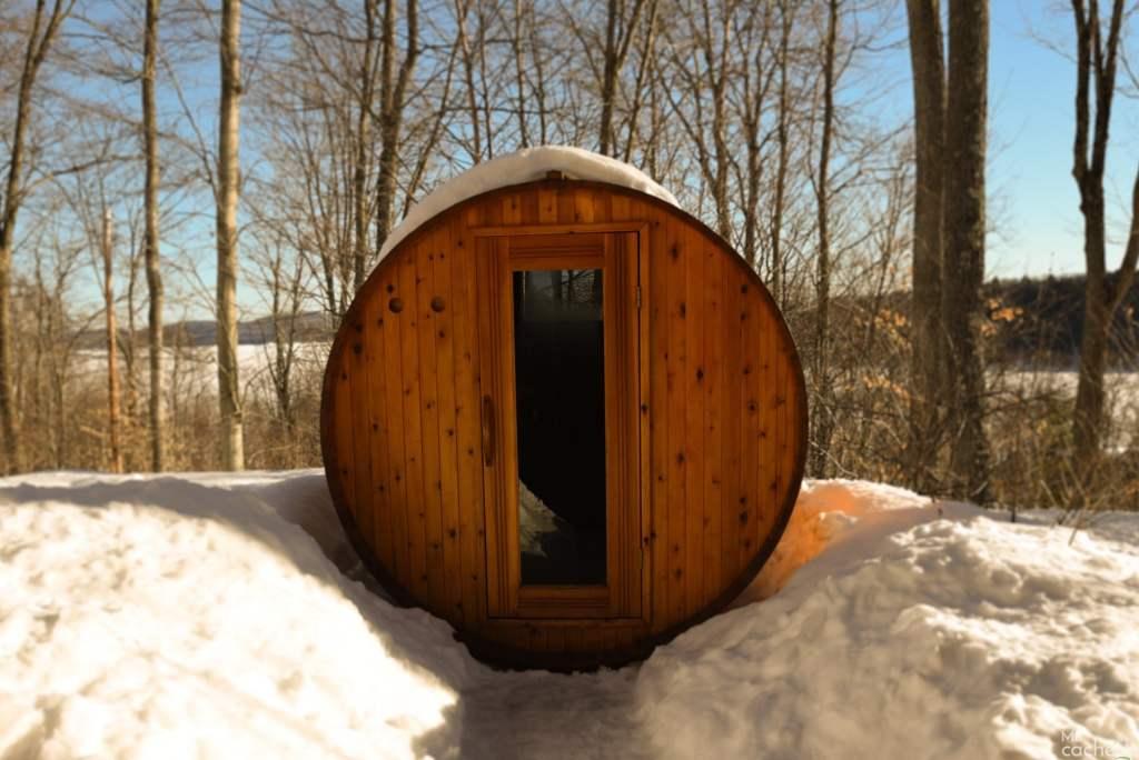 Domaine forêt d'eau - Chalet 16 personnes à louer au lac Simon en Outaouais - Sauna extérieur