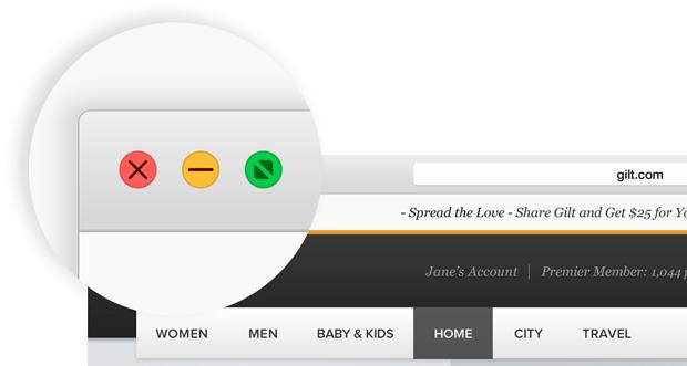 OS X Yosemite boutons