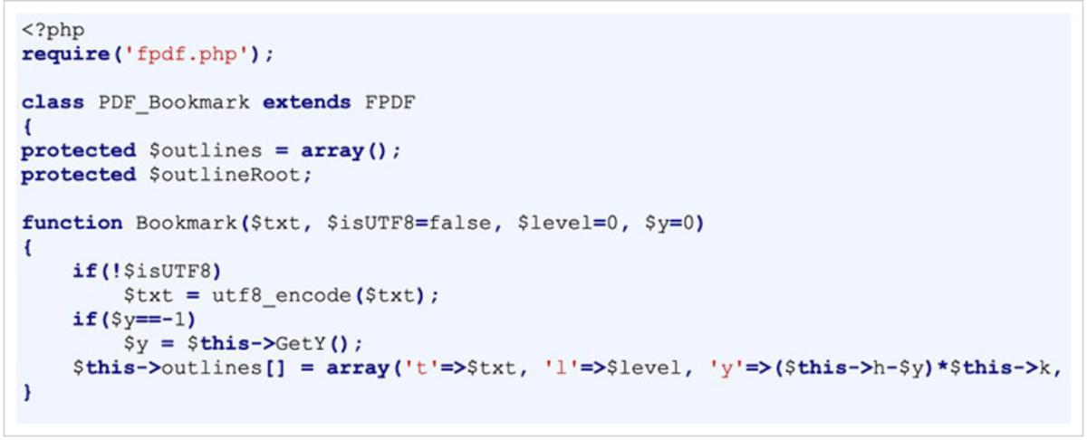 FPDF adalah kelas PHP yang membolehkan untuk menjana fail PDF dengan PHP tulen secara percuma