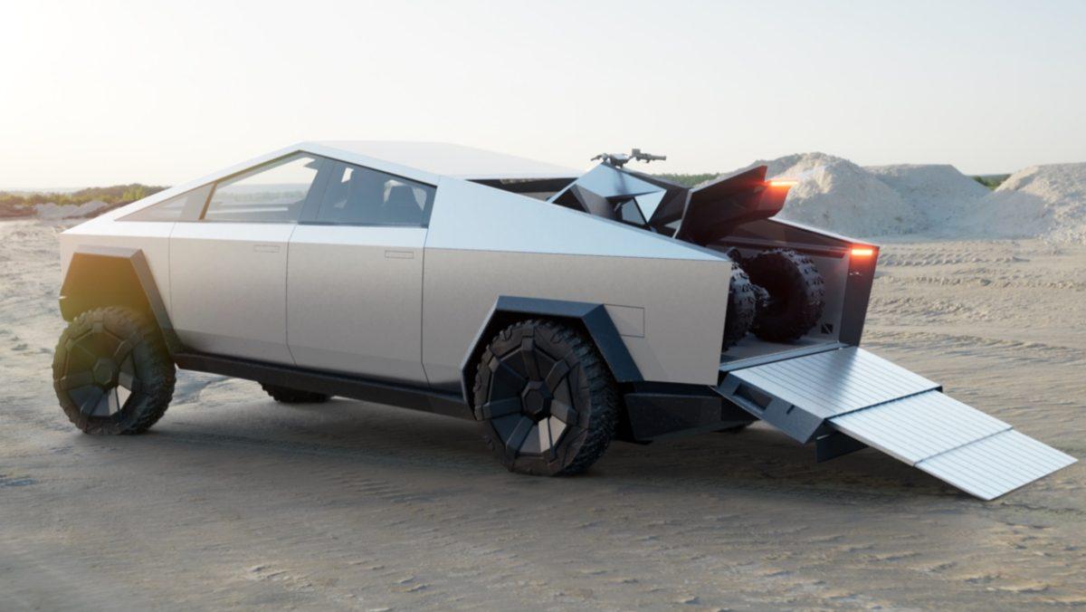 kereta futuristik dari Tesla, tesla cybertruck