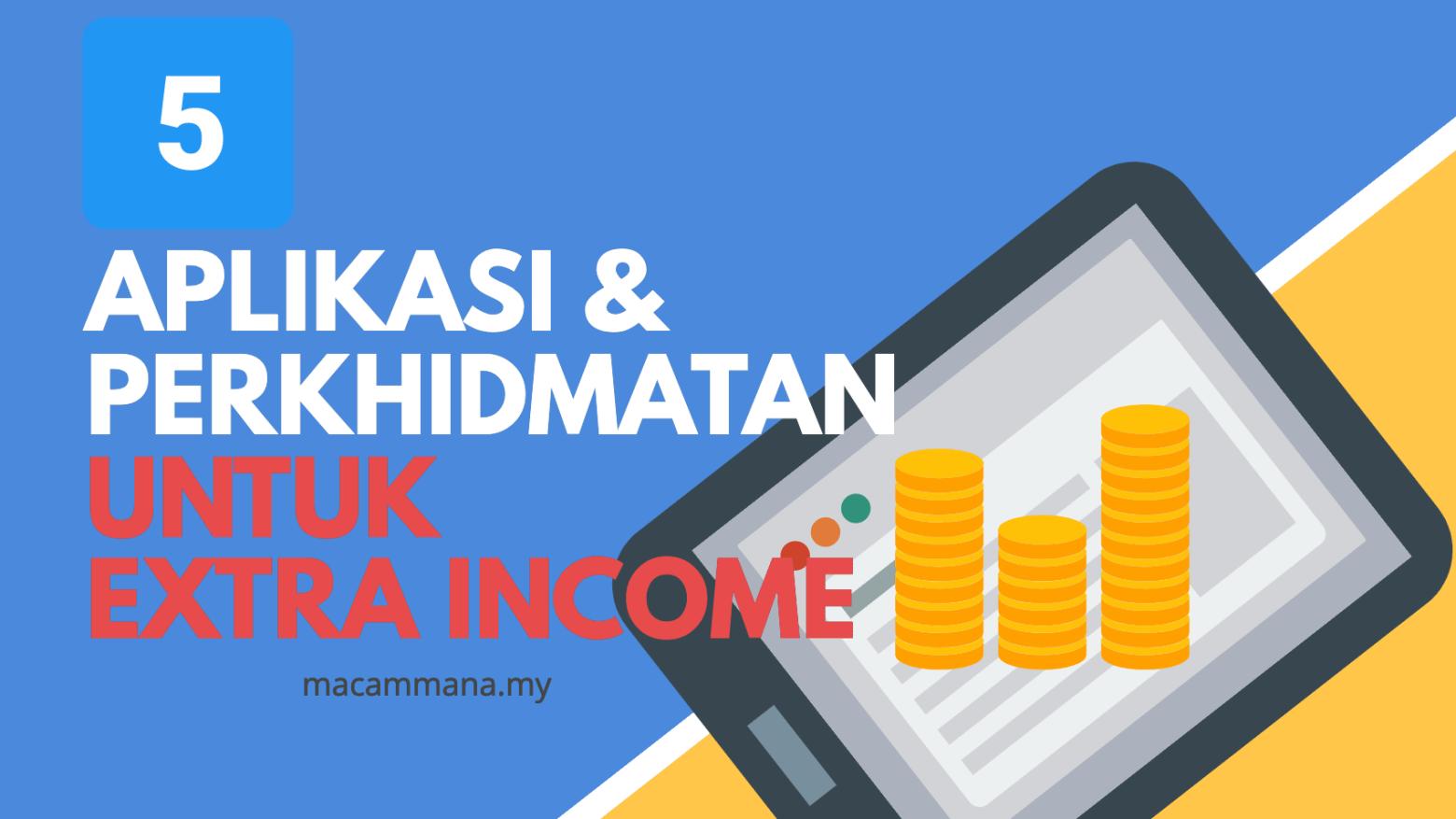 5 Perkhidmatan dan Apps Untuk Extra Income