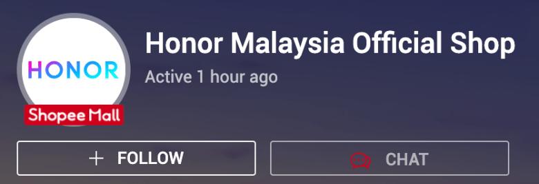 honor malaysia store