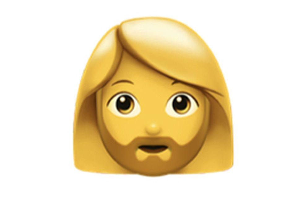 Woman With Beard emoji