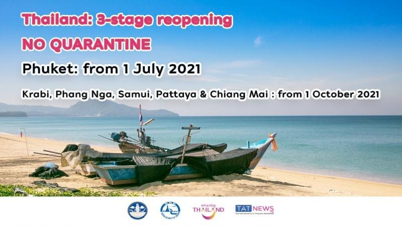 Thailand Akan Buka Semula Phuket Kepada Pelancong Yang Telah Menerima Vaskin mulai 1 Julai
