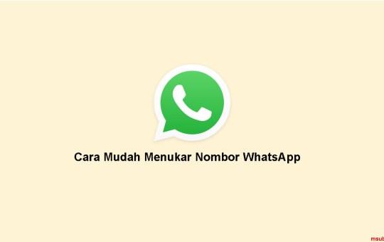 cara tukar no whatsapp