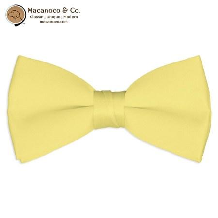Canary Yellow Satin Silk Pre-Tied Bow Tie