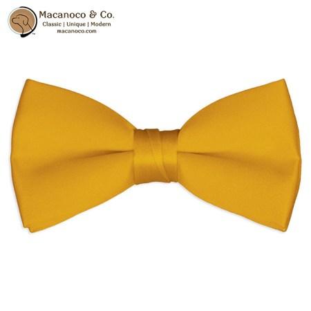 2553 Gold Satin Silk Pre-Tied Bow Tie