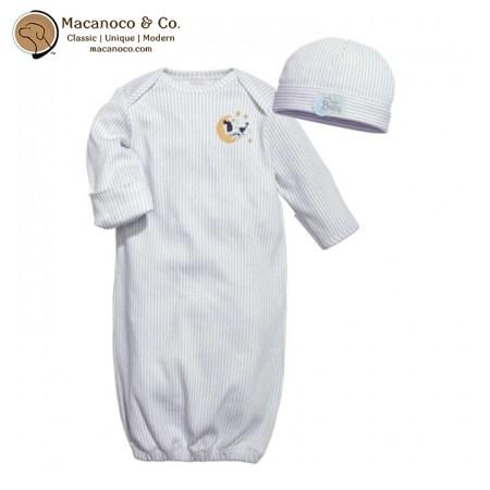 109-B4M3 Baby Dumpling Hush Little Baby Gown Set - Boy 1