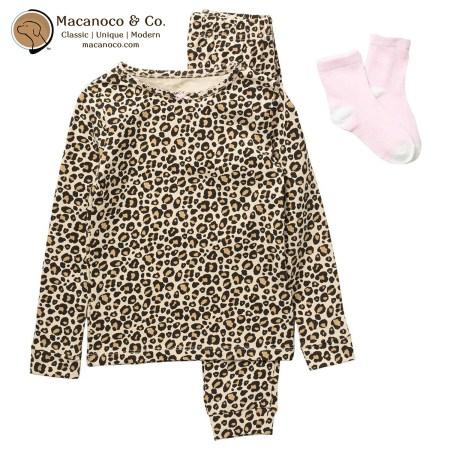 750690 Sleep On It Leopard Print Pajama Set 1