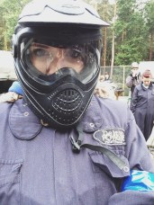 me rocking the Paint ball look