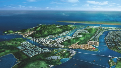 An artist's projection of the planned Hengqin residential development