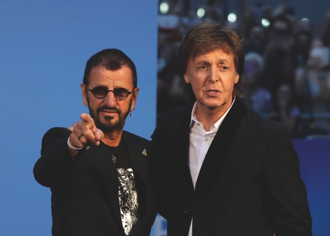 Paul McCartney (right), and Ringo Starr