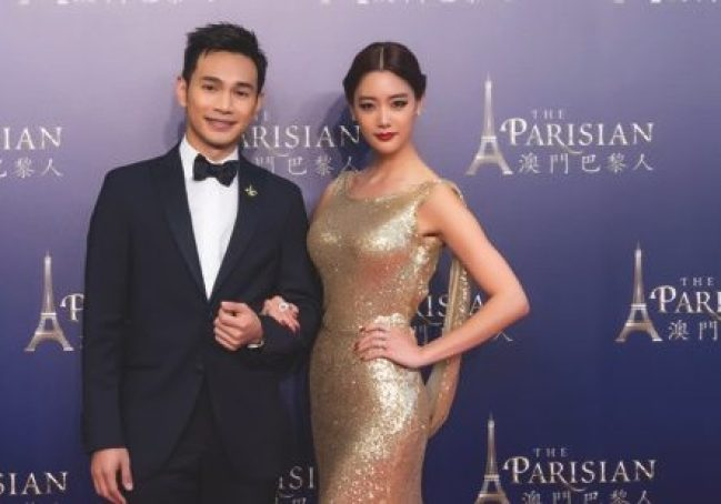 Hong Kong singer Jonathan Wong and Korean actress Clara Lee