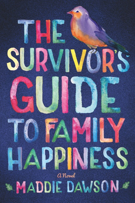 "This book cover image released by Amazon Publishing shows, ""The Survivor's Guide to Family Happiness,"" a novel by Maddie Dawson. (Amazon Publishing via AP)"