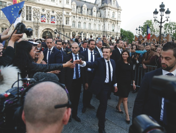 Emmanuel Macron inaugurated as France President