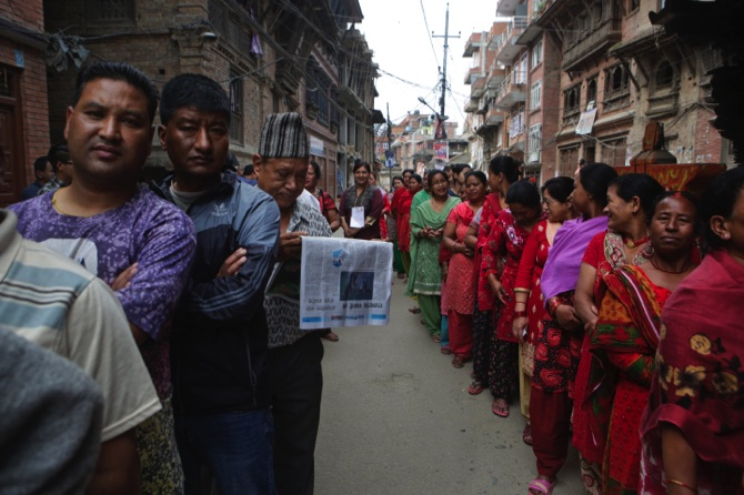 113-yr-old woman in Nepal votes in local-level polls