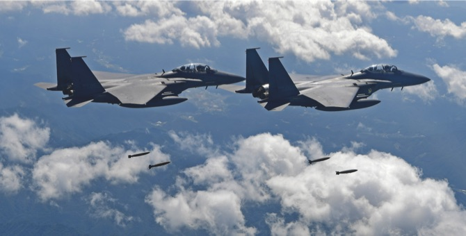 United States jets fly over Korean Peninsula after North Korea ballistic missile launch
