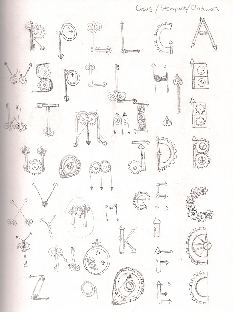 Paper Riceball » Steampunk/Clockwork Alphabet