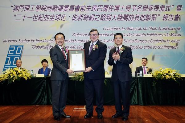 New Silk Road bring opportunities to Macau, said Durão Barroso