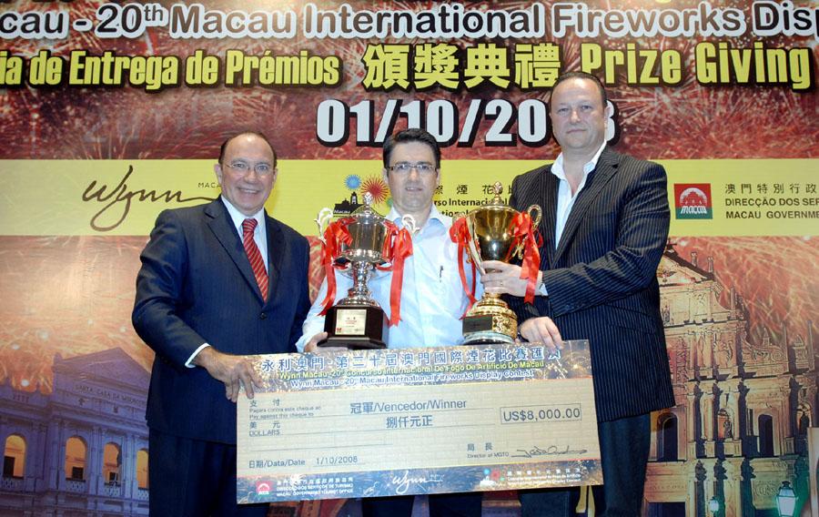France wins 20th Macau International Fireworks Display Contest