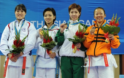 Paula Pereira Carion win bronze in Karate at the Asian Games