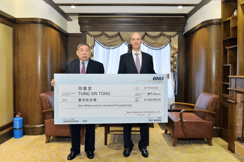 BNU donations to Tung Sin Tong