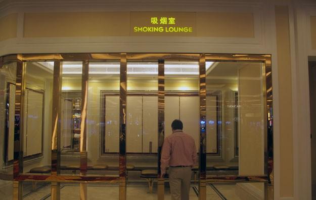 smoking lounges casinos macau