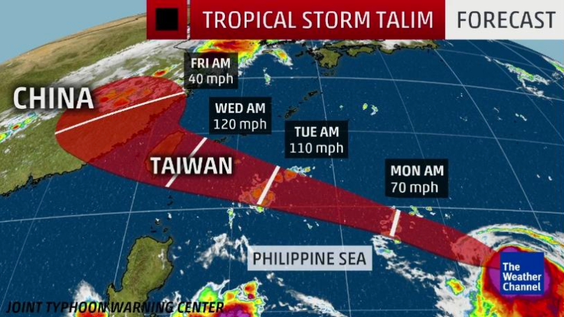 Observatory forecasts Talim stronger than Hato