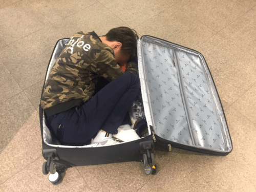 People smuggler hides man in suitcase: customs