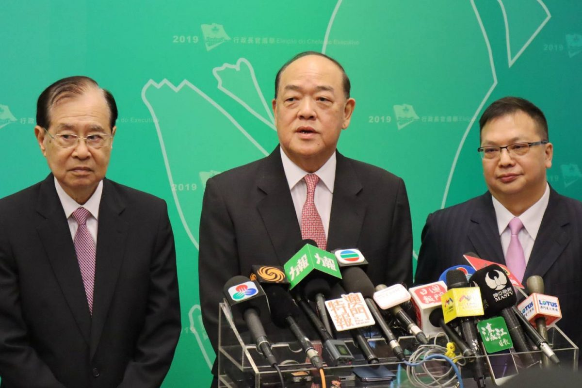 Ho Iat Seng gets backing from 95% of CE Election Committee members