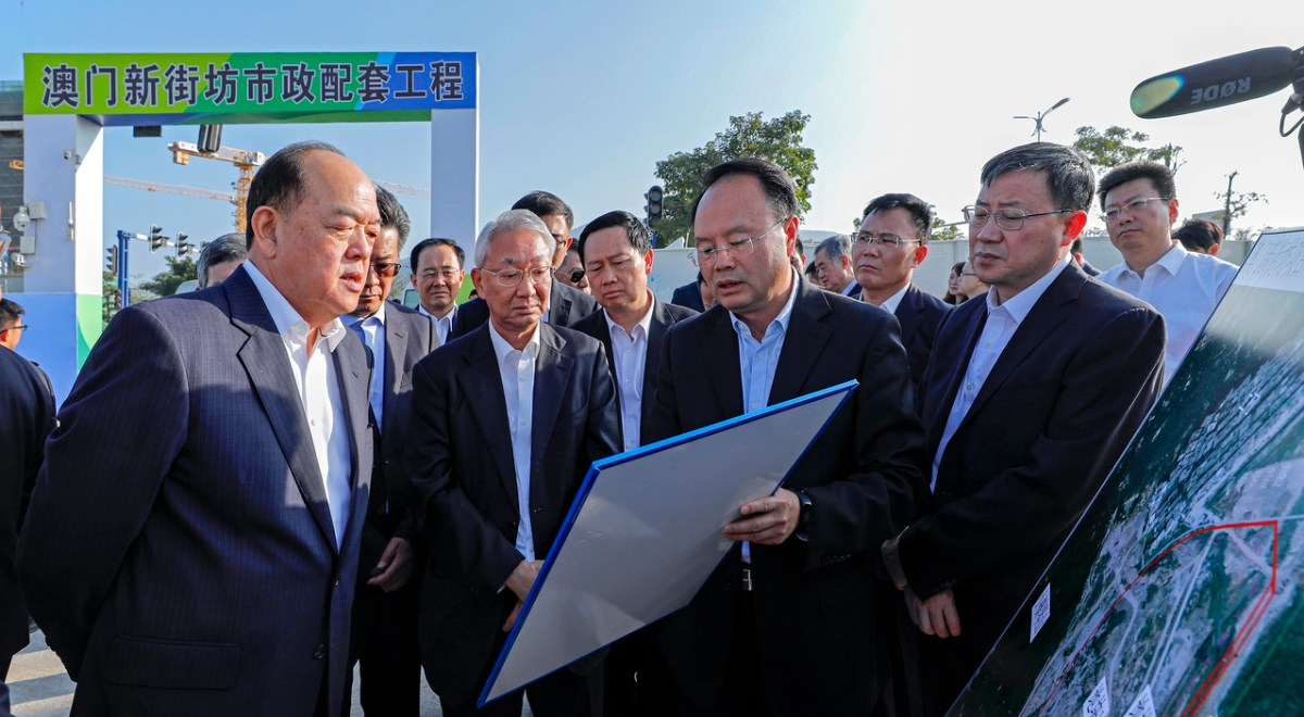 In first official visit, Macau CE seeks stronger ties with Guangdong