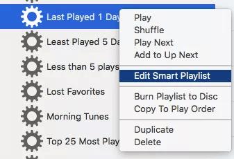 Edit playlist