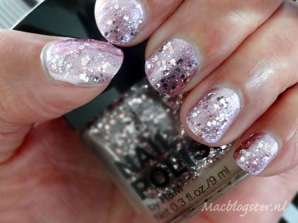 Transparante glitter nagellak