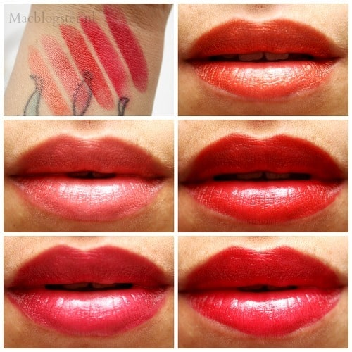 MAX lipstick swatches
