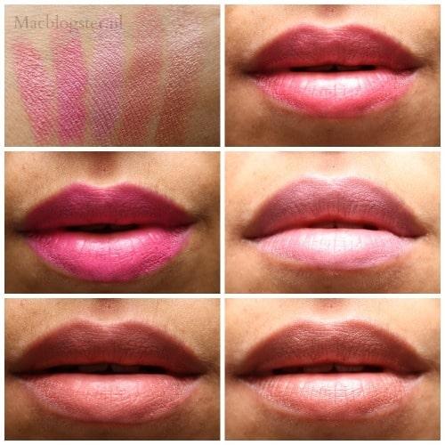 Swatches MAX lipstick