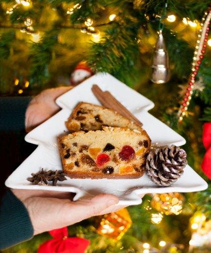 Fruitcake di Natale con uvetta canditi
