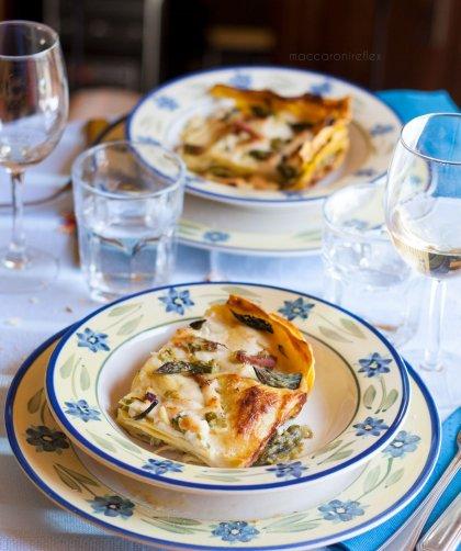 Lasagne con speck e asparagi, pranzo della domenica
