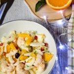 Insalata di finocchi arance e gamberi - insalata light dopo le feste