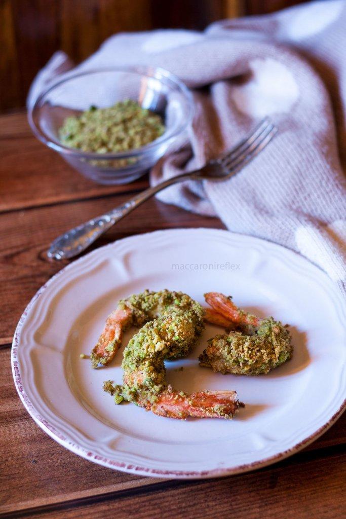 Gamberi gratinati ai pistacchi ricetta per San Valentino