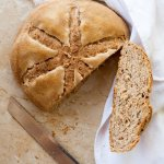 Pane con farina integrale e semola rimacinata